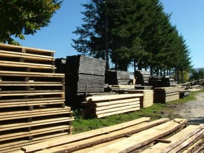 travi, pali e legname in castagno